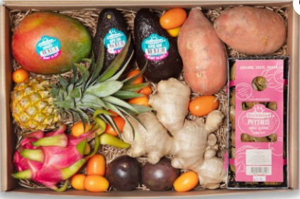 Help Dijkvogels de winter door met een Tropical groente en fruit doos!
